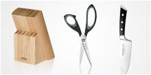 Knives, scissors, knife blocks