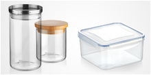 Containers, jars and dishes