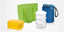 Food containers and thermal-insulating lunch bags